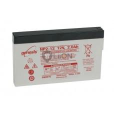 Genesis zselés akkumulátor 12V 2Ah NP2-12FR