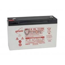 Genesis zselés akkumulátor 6V 12Ah NP12-6NFR